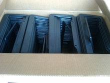 "Load image into Gallery viewer, LOT OF 50 BLANK BLACK PLASTIC 50 pieces License Plate Frame 1"" bottom FRAMES"