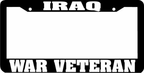 IRAQ WAR VETERAN License Plate Frame