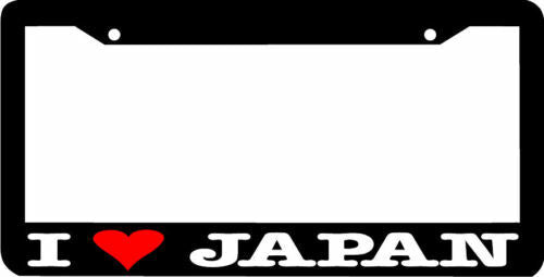 I LOVE JAPAN License Plate Frame jdm
