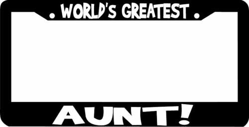 WORLD'S GREATEST AUNT  License Plate Frame