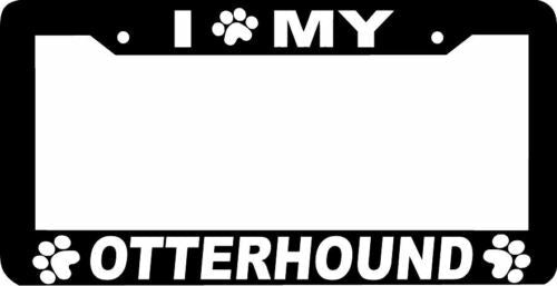 OTTERHOUND DOG  paw print License Plate Frame