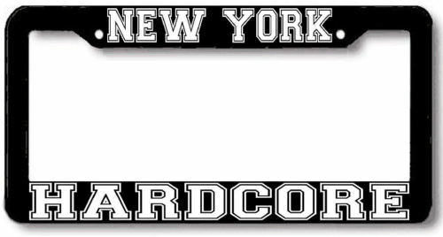 NEW YORK HARDCORE NYHC License Plate Frame