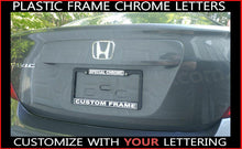 Load image into Gallery viewer, PLASTIC - SPECIAL CHROME Make Your Own CUSTOM WORDING words License Plate Frame