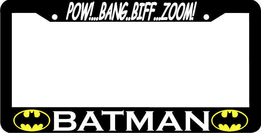 POW BANG BIFF ZOOM BATMAN License Plate Frame