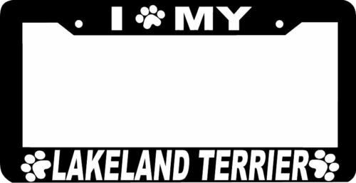 LAKELAND TERRIER DOG paw print License Plate Frame