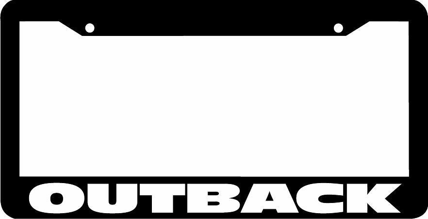 OUTBACK License Plate Frame