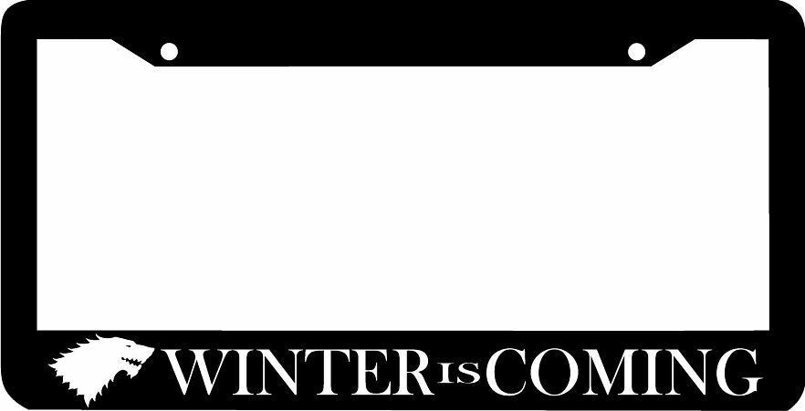 WINTER IS COMING  License Plate Frame