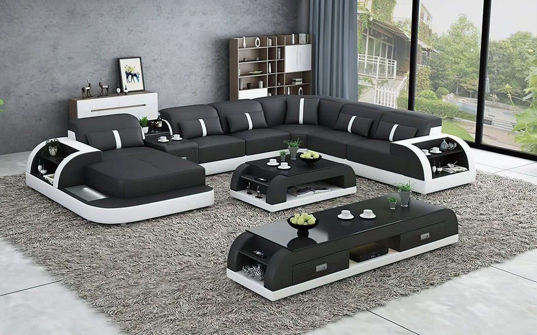Blay Modern Sectional Sofa with LED light