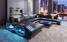 Load image into Gallery viewer, Sahara Modern leather Sectional with LED light