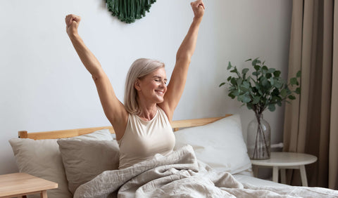 FX menopause helps reduce flushes and sweats and improves sleep