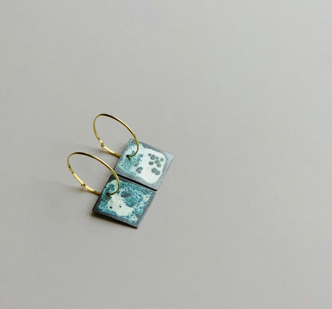 Seascape, earrings