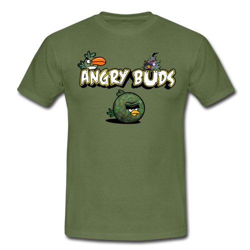 Angry Buds 420 Men's T-Shirt - green
