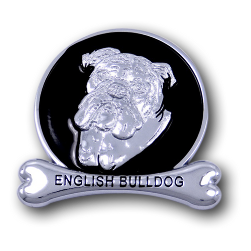 English Bulldog Chrome Car Emblem from ChromAnimals