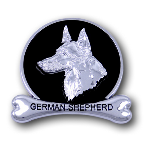 German Shepherd Chrome Car Emblem from ChromAnimals