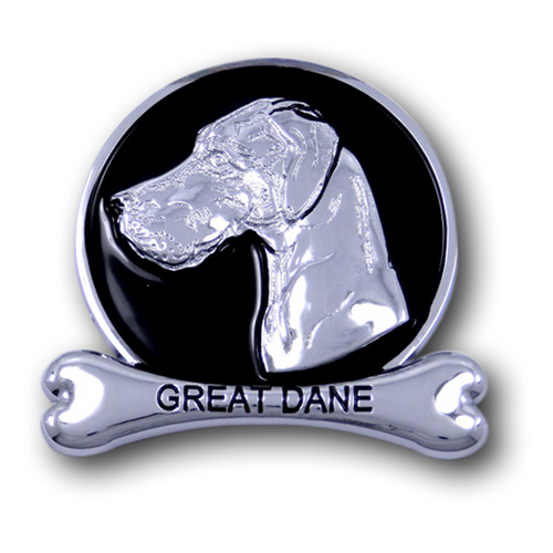 Great  Dane  Chrome Car Emblem from ChromAnimals