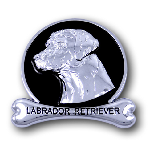 Labrador Retriever Chrome Car Emblem from ChromAnimals