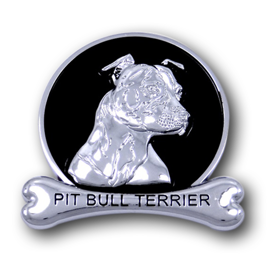 Pit Bull Terrier Chrome Car Emblem from ChromAnimals