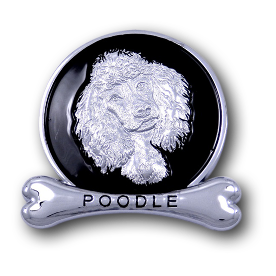 Poodle Chrome Car Emblem from ChromAnimals