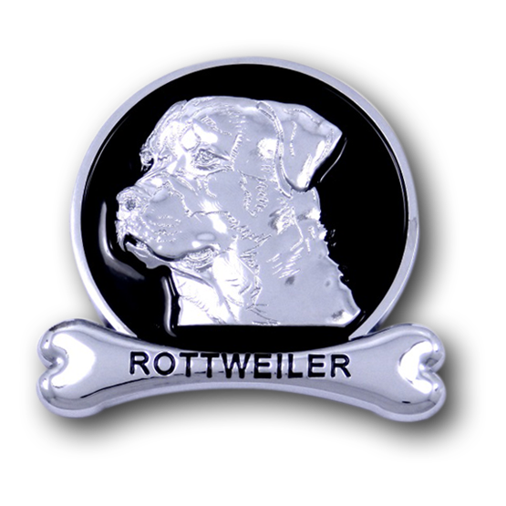 Rottweiler Chrome Car Emblem from ChromAnimals