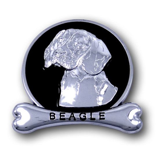 Beagle Chrome Car Emblem from ChromAnimals