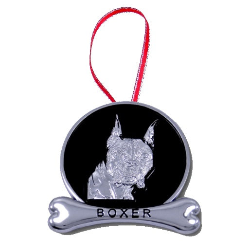 Boxer Holiday Ornament
