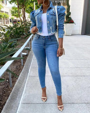 Puffed & Pretty Denim Jacket