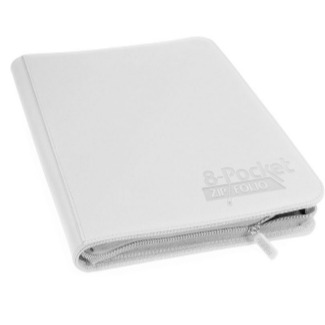 UG - 8 Pocket White Folder (Zip Folio)