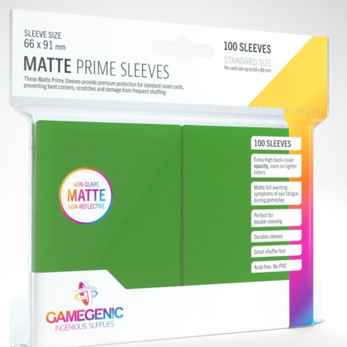 Gamegenic Matte Prime 100 Pack Green Sleeves
