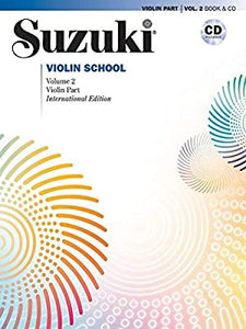 Suzuki Violin School Vol. 2 Violin Part Book & CD