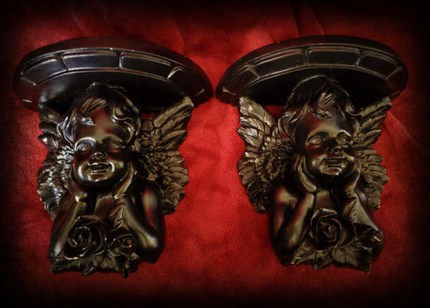 Gothic Cherub Sconces