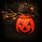 NEW- Summerween Jack O' Lantern Candle