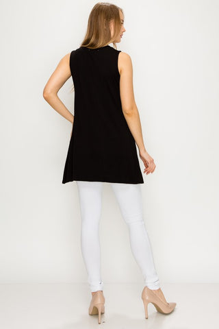 Solid Sleeveless Tunic