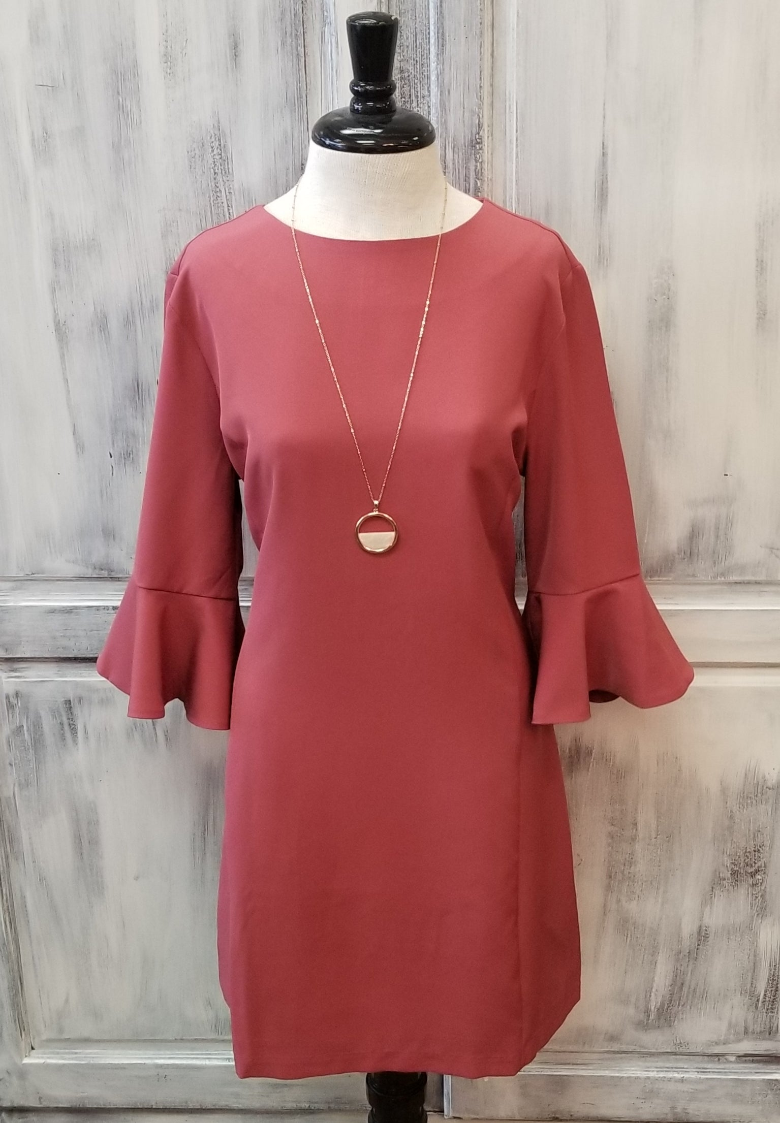 Charlie Paige Rose Bell Sleeve Dress