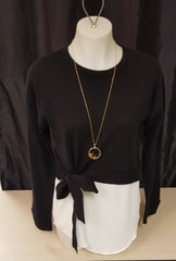 Charlie Paige Layer Top with Tie