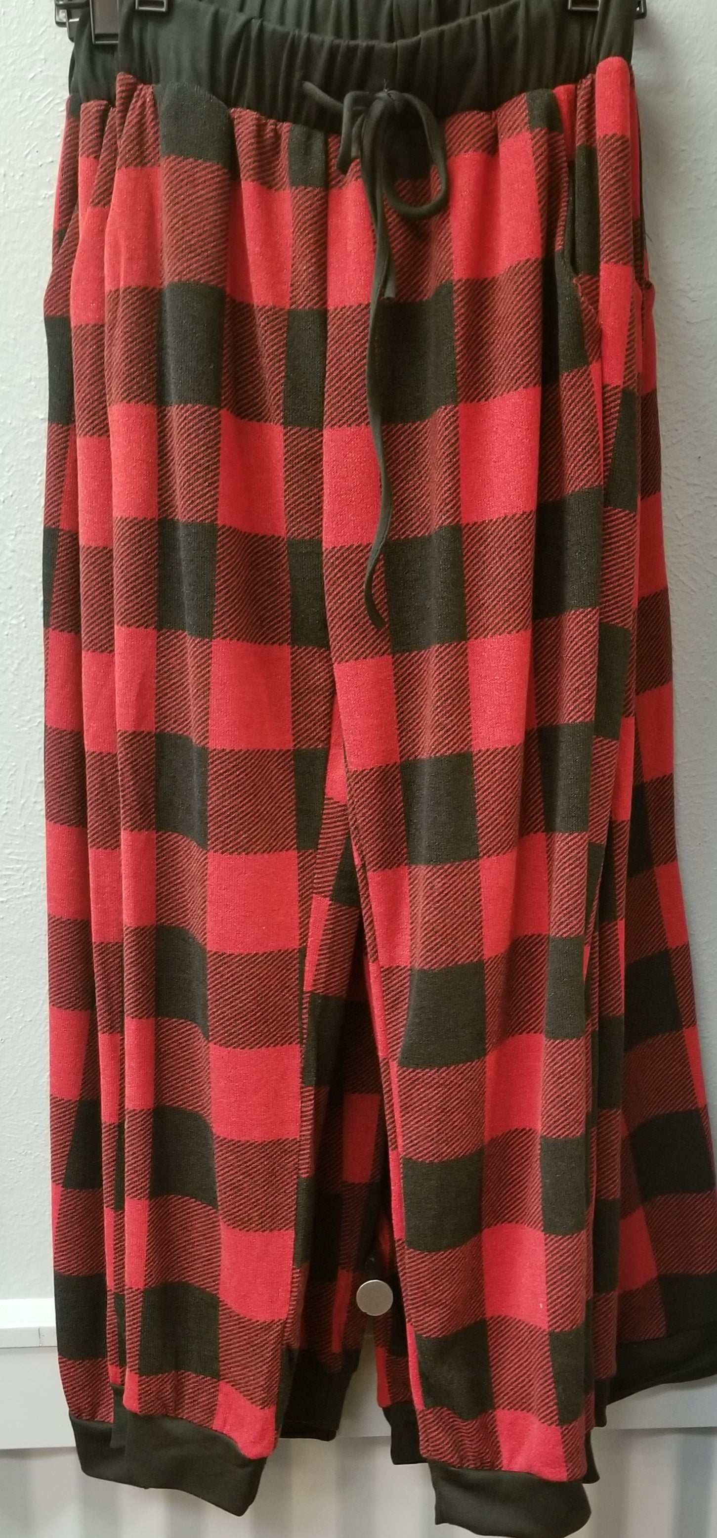RED  BUFFALO PLAID PANTS