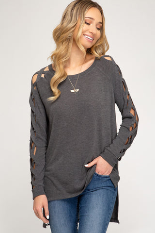 LS Strappy Sleeve Top