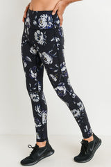 Highwaist Midnight Roses Full Leggings