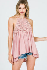 Crochet Lace Detail Tank Top