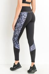 Highwaist Block Camo Print Full Leggings