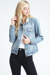 Distressed Essential Denim Jacket