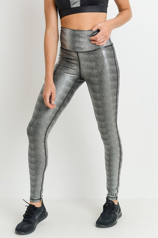 Highwaist Foil Scale Print Full Leggings