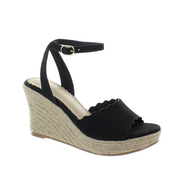 Black wedge with ankle strap