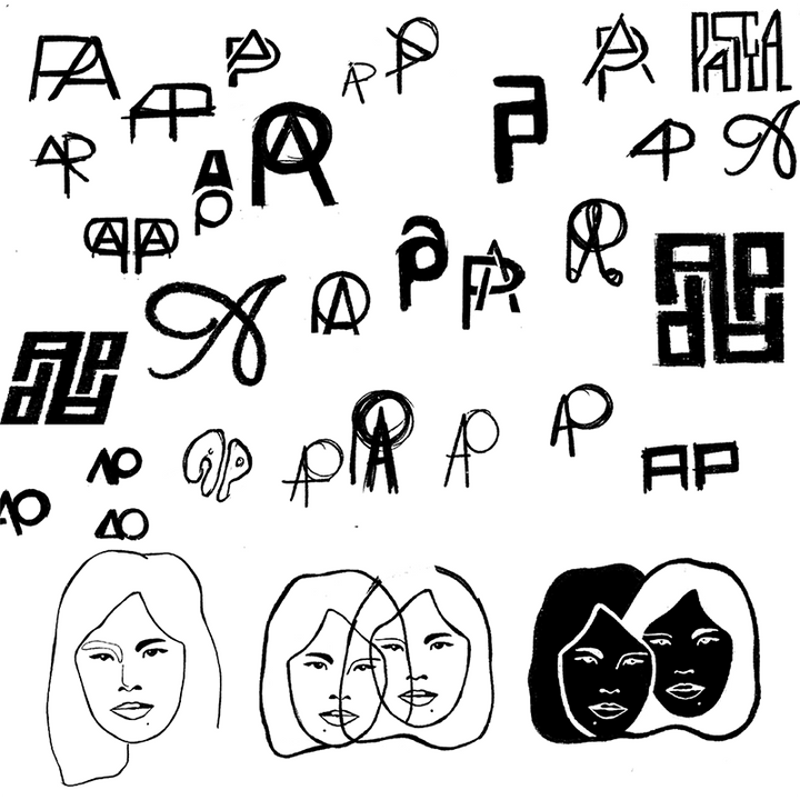fashion monogram sketches, drawings, fashion emblem sketches, drawings