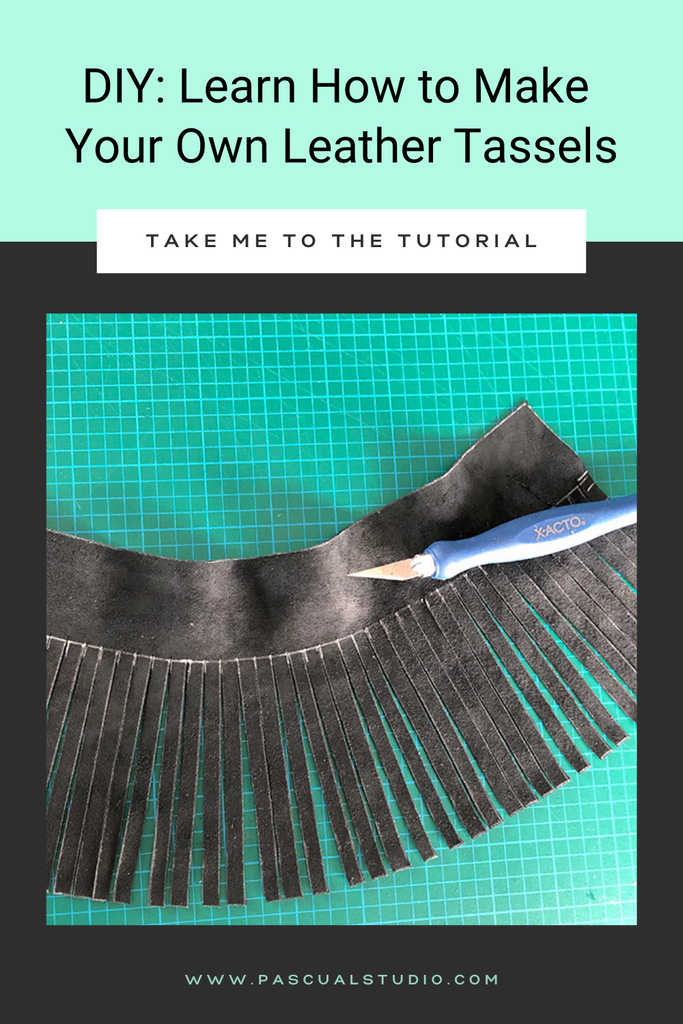 How to Make a Leather Tassel Tutorial DIY