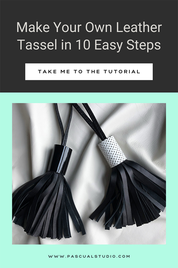 Andrea Pascual How to Make a Leather Tassel DIY Tutorial