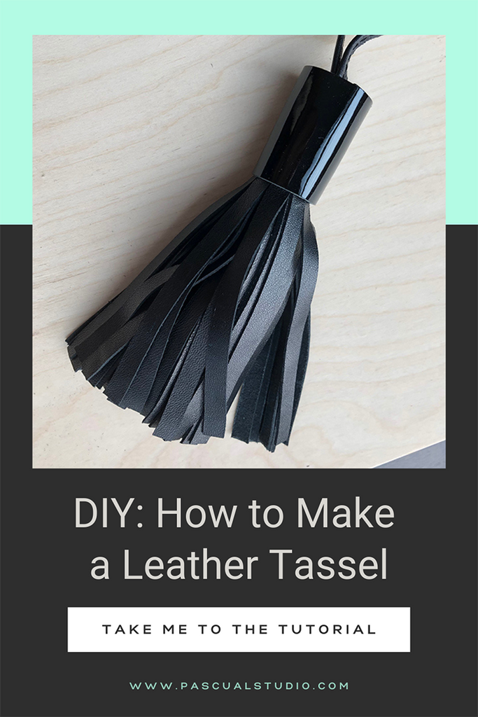 Andrea Pascual DIY Leather Tassels Tutorial