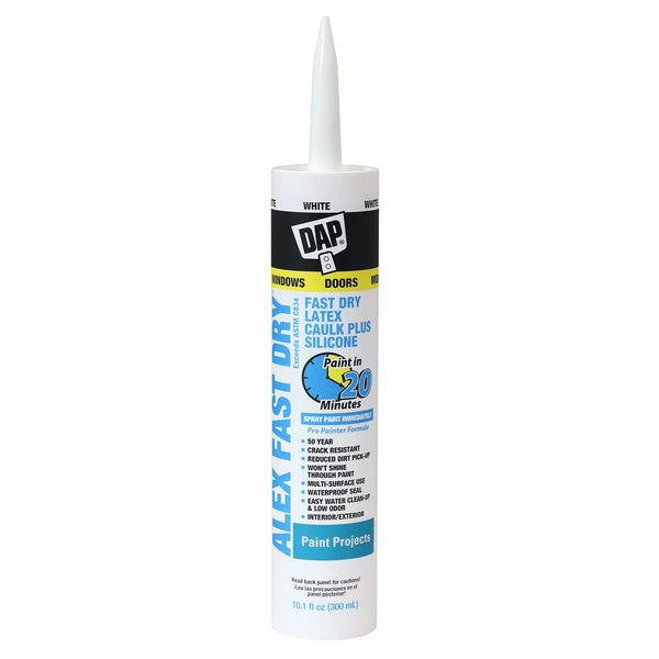 DAP Alex Plus Fast Dry Latex Caulk White