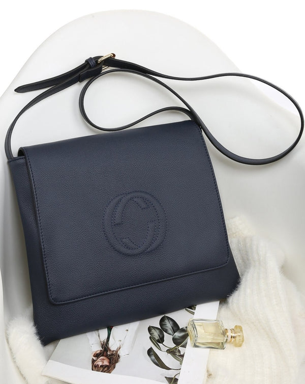 Navy Messenger Cross-Body Bag