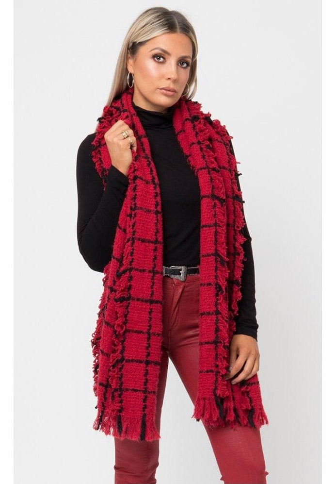 Red Pia Scarf