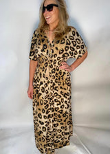 Alice Tan Animal Print Maxi Dress